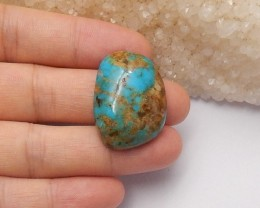 31ct Natural turquoise  cabochon bead customized jewelry  (18091294)