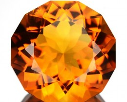 ~GORGEOUS~ 7.17 Cts Natural AAA Golden Orange Citrine Fancy Cut Brazil