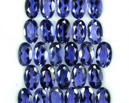 5.26 Cts Natural Deep Blue Iolite 27 Pcs Oval (5x3 mm) Tanzania