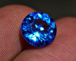 2.81crt STUNING BLUE TOPAZ BRILLIAN MIXED MEMO ID GRI LAB