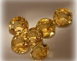 Beautiful gem parcel of Citrine gems 6.00mm VVS 6 pieces
