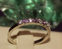 Natural Amethyst 925 Sterling Silver Ring Size (6 1/4) 0240