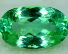 NR ~  14.25 Cts Oval Cut Green Spoudmene Gemstone From Afghanistan