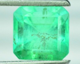 NR ~  Certified 1.76 cts Super Quality Asscher Cut Untreated Colombian Emer