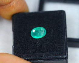1.30ct Zambia Green Emerald Oval Cut Lot GW2434