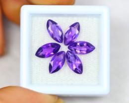 4.40ct Purple Amethyst Marquise Cut Mix Size Lot GW2436