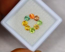 2.23ct Fancy Color Sapphire Round Cut Lot GW2439