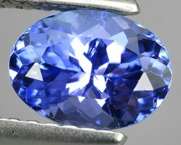 1.15 CTS EXCELLENT SPARKLING TOP RICH NATURAL  BLUE TANZANITE