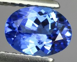 1.00 CTS GLITTERING LUSTER OVAL COLLECTORS GEM NATURAL BLUE TANZANITE!!!