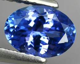 1.05 CTS HUGE SPARKLE BLUE NATURAL TANZANIA TANZANITE OVAL EXCELLENT NR!!!