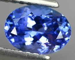 1.25 CTS HUGE SPARKLE BLUE NATURAL TANZANIA TANZANITE OVAL EXCELLENT NR!!!