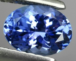 1.00 CTS HUGE SPARKLE BLUE NATURAL TANZANIA TANZANITE OVAL EXCELLENT NR!!!