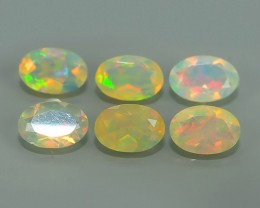 1.70 CTS MEXICAN OPAL! NATURAL OVAL CUT EXCELLENT PLAY OF COLORS ! AAA