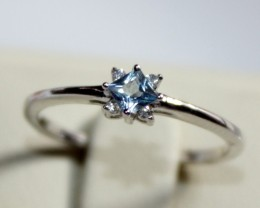 Natural Topaz Silver Ring Size (5.5) 0214