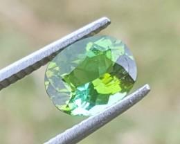 No Reserve 1.65 carats  Blueish Green  tourmaline Gemstone