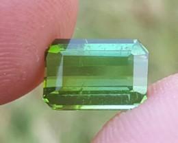 No Reserve 2 carats  Transparent Green tourmaline Gemstone