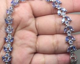 (B2) Mesmerizing Nat 84.0tcw. Tanzanite  Bracelet