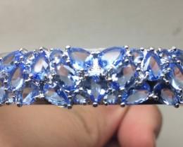 (B) Romantic 120tcw.  Tanzanite Glass Bangle