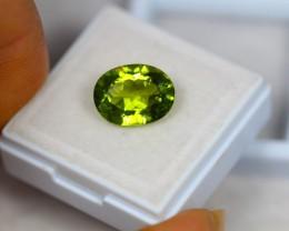 4.37ct Green Peridot Oval Cut Lot V2381