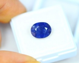 5.82ct Blue Sapphire Oval Cut Lot V2390