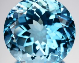 ~LOVELY~ 34.61 Cts Natural Sky Blue Topaz Round Cut Brazil