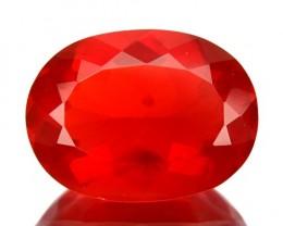 ~BEAUTIFUL~ 1.69 Cts Natural Reddish Orange Fire Opal Oval Cut Mexico