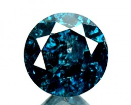 0.15 Cts Natural Electric Blue Diamond Round Cut Africa