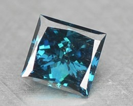 0.09 Cts Natural Blue Diamond Square Princess Africa