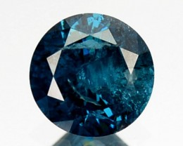 0.19 Cts Natural Electric Blue Diamond Round Cut Africa