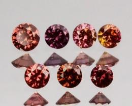 0.21 Cts Natural Brownish Pink Diamond 7 Pcs Round Cut Africa