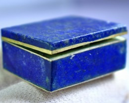 180 CT Natural Blue Lapis Lazuli Carved Stone Box Special Shape