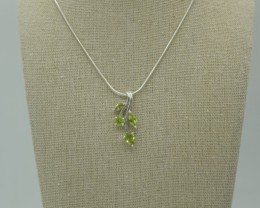 CERTIFIED NATURAL UNTREATED PERIDOT PENDANT 925 STERLING SILVER JE1020