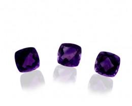 10 Stones - 9.80 ct Amethyst 6x6mm Cushion