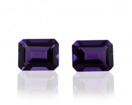 3 Stones - 6.27 ct Amethyst 9x7mm Octagon