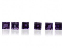 16 Stones - 9.92 ct Amethyst 5x5mm Square