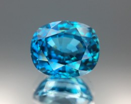 3.95 Cts Blue Zircon Awesome Color and Cut ~ Cambodia As7