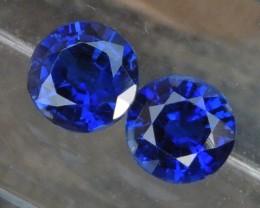 1.29cts,  Vivid Blue Kyanite Pair