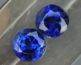 1.42cts Vivid Blue Kyanite Pair