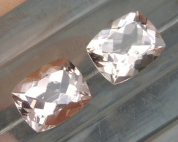 5.96cts,  Morganite Pair,   Untreated, Clean