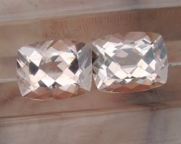 5.99cts,  Morganite Pair,   Untreated, Clean