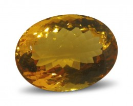 $1 No Reserve Auction -14.9 ct Oval Citrine
