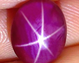 5.71 Carat Fiery, Flashy Star Ruby - Gorgeous