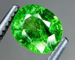 0.90 Crt Natural Tsavorite Garnet Faceted Gemstone.( AG 64)