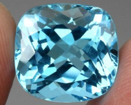 A) Gorgeous  HUGE 24.77 Cushion 100% Natural blue Topaz from Brazil