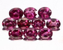 10 PIECE PARCEL OF RHODOLITE GARNET GEMS -  BEAUTIFUL PINK