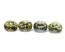 4 Stones - 9.80 ct Citrine 10x8mm Oval - $1 No Reserve Auction