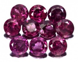 11 piece parcel of Rhodolite Garnet gems 4.00mm