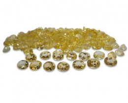 6 Stones - 9.90 ct Citrine 9x7mm Oval - $1 No Reserve Auction