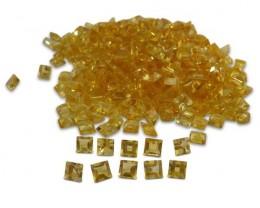 22 Stones - 14.96 ct Citrine 5mm Square - $1 No  Reserve Auction
