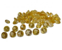 17 Stones - 14.8 ct Citrine 8mm Round - $1 No Reserve Auction